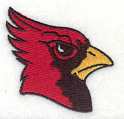 Embroidery Design: Cardinal Head 2.31w X 2.25h