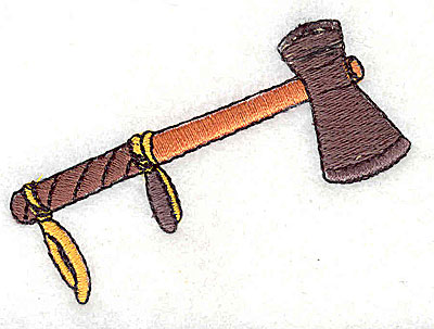 Embroidery Design: Tomahawk 2.69w X 1.94h