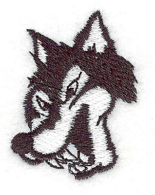 Embroidery Design: Cartoon wolf 1.38w X 1.81h