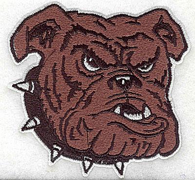 Embroidery Design: Bulldog head 3.44w X 3.31h
