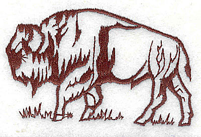 Embroidery Design: Bison 3.06w X 1.94h