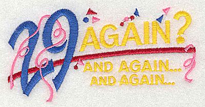 Embroidery Design: 29 Again and again 4.06w X 2.06h