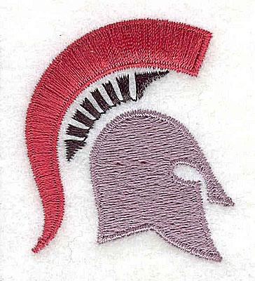 Embroidery Design: Trojan Helmet 1.50w X 1.81h