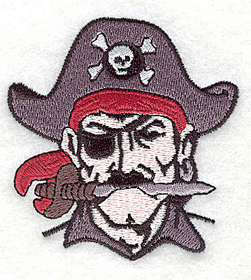 Embroidery Design: Pirate Head 2.69w X 2.88h
