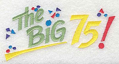 Embroidery Design: The Big 75 4.06w X 2.13h