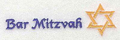 Embroidery Design: Bar Mitzvah 3.88w X 1.13h