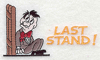 Embroidery Design: Last Stand 3.81w X 2.19h