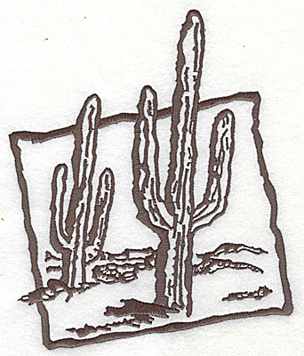 Embroidery Design: Cactus 6.69w X 7.81h