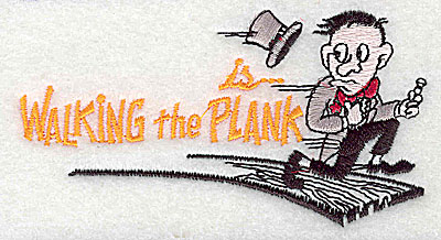 Embroidery Design: Walking the Plank 4.19w X 2.25h