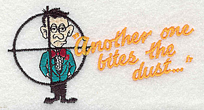 Embroidery Design: Another one bites the dust 4.19w X 2.19h