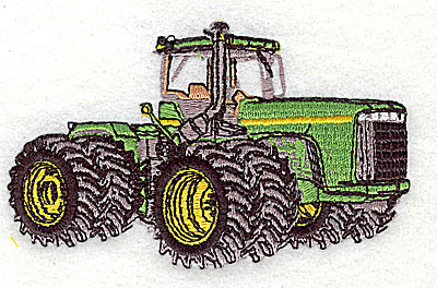 Embroidery Design: Tractor 3.75w X 2.31h