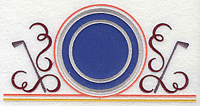 Embroidery Design: Golf applique 7.81w X 3.94h