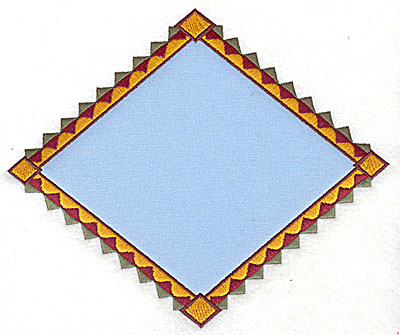 Embroidery Design: Triangular applique 7.62w X 6.38h