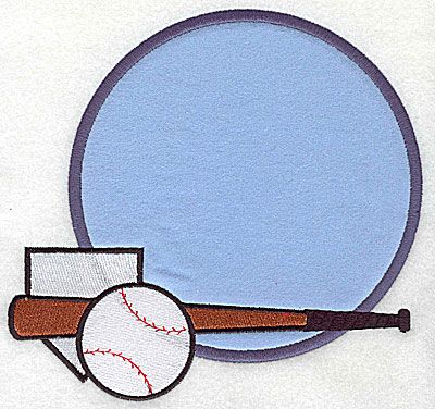 Embroidery Design: Baseball applique 7.56w X 7.19h