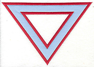 Embroidery Design: Triangle applique 7.75w X 5.38h