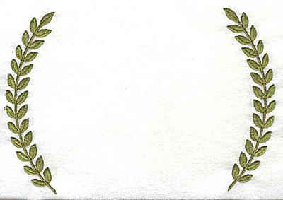 Embroidery Design: Double laurel leaves 7.31w X 5.13h