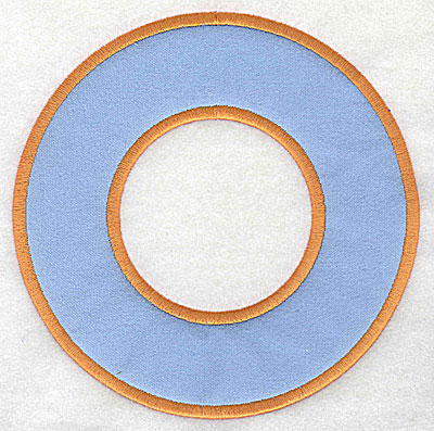 Embroidery Design: Circular applique with cut out 6.75w X 6.75h