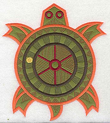 Embroidery Design: Turtle applique 6.88w X 7.75h
