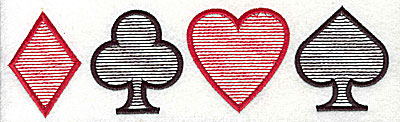 Embroidery Design: Card symbols 7.94w X 2.25h