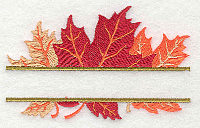 Embroidery Design: Maple Leaves split 3.94w X 2.44h