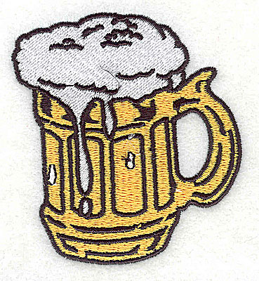 Embroidery Design: Beer mug 2.62w X 2.88h