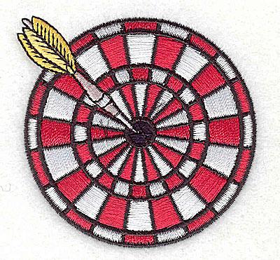 Embroidery Design: Dart board 2.69w X 2.62h