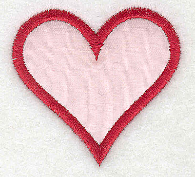 Embroidery Design: Heart applique 2.13w X 2.00h