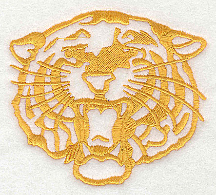 Embroidery Design: Tiger Head 4.00w X 3.56h