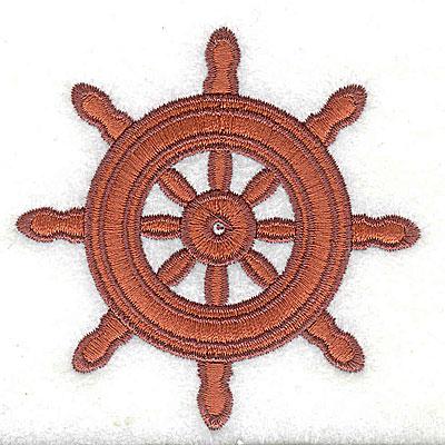 Embroidery Design: Ship's Wheel 2.94w X 2.94h