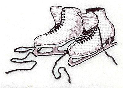Embroidery Design: Figure skates 3.62w X 2.50h