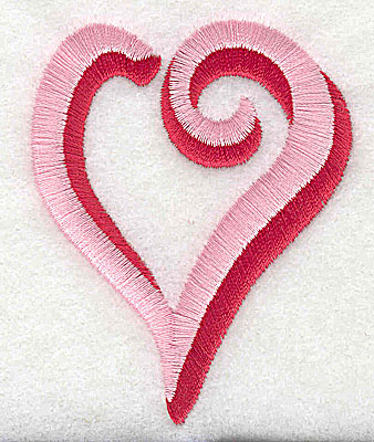 Embroidery Design: Heart 2.31w X 2.94h