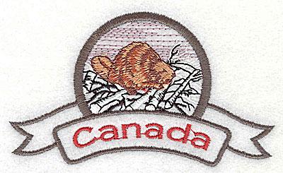 Embroidery Design: Canada Beaver 4.13w X 2.38h