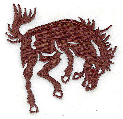 Embroidery Design: Bucking Horse2.56w X 2.50h