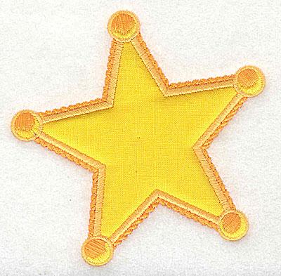 Embroidery Design: Star applique 3.81w X 3.81h