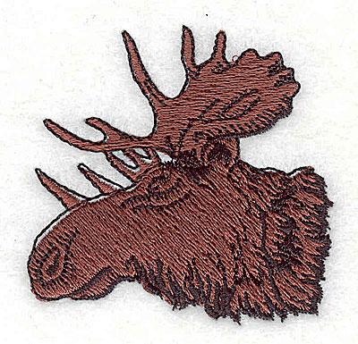 Embroidery Design: Moose Head 2.25w X 2.19h