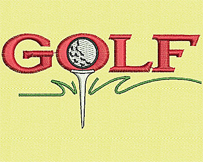 Embroidery Design: Golf 3.88w X 1.88h