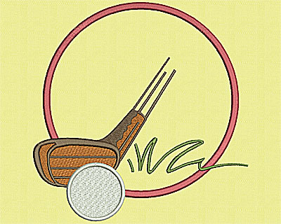 Embroidery Design: Golf Putting 7.06w X 7.25h