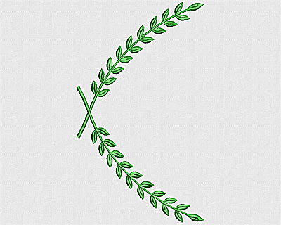 Embroidery Design: Laurels 7.56w X 4.38h