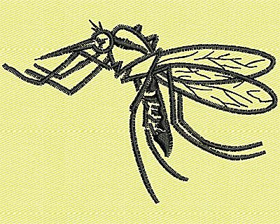 Embroidery Design: Mosquito 3.25w X 2.19h