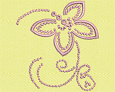 Embroidery Design: Flower Design 1.50w X 1.63h