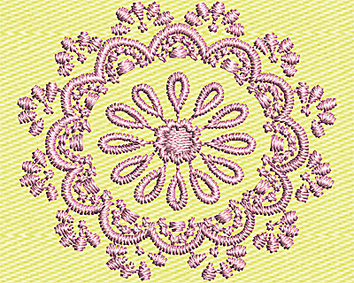 Embroidery Design: Paisley Flower 1.50w X 1.31h