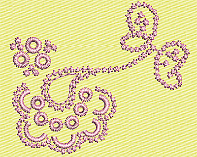 Embroidery Design: Paisley Design 1.50w X 1.25h
