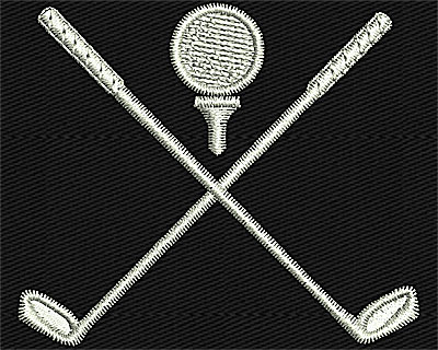 Embroidery Design: Crossed Golf Clubs 2.19w X 1.88h