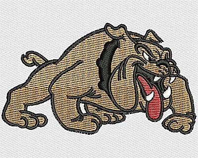 Embroidery Design: Bulldog Cartoon 2.88w X 1.63h