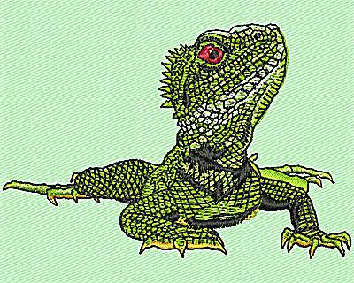 Embroidery Design: Realistic Iguana 3.19w X 2.13h