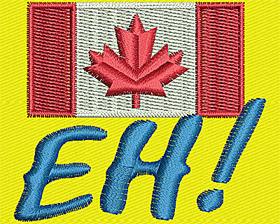 Embroidery Design: Canadian EH 1.81w X 2.06h
