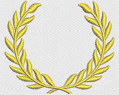 Embroidery Design: Laurel  1.81w X 1.56h