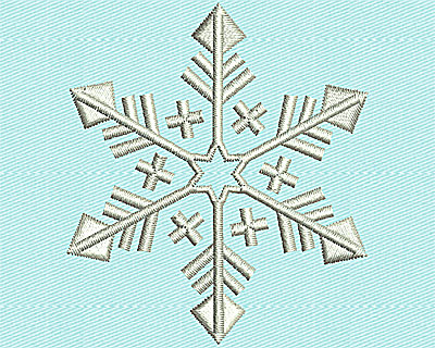 Embroidery Design: Snowflake 2.19w X 2.50h