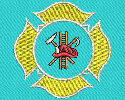 Embroidery Design: Fire & Safety Logo 2.00w X 2.00h