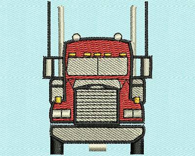 Embroidery Design: Transport Truck  1.50w X 2.06h